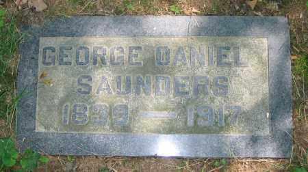 SAUNDERS, GEORGE DANIEL - Clark County, Ohio   GEORGE DANIEL SAUNDERS - Ohio Gravestone Photos
