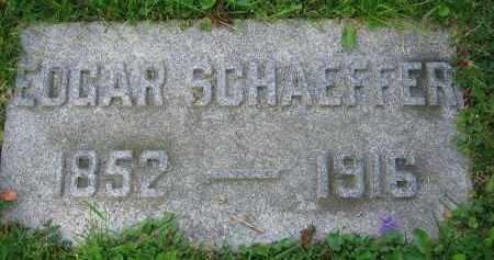 SCHAEFFER, EDGAR - Clark County, Ohio | EDGAR SCHAEFFER - Ohio Gravestone Photos