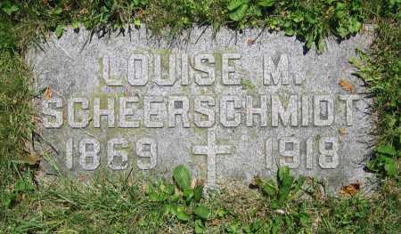SCHEERSCMIDT, LOUISE M. - Clark County, Ohio | LOUISE M. SCHEERSCMIDT - Ohio Gravestone Photos