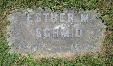 SCHMID, ESTHER M. - Clark County, Ohio   ESTHER M. SCHMID - Ohio Gravestone Photos