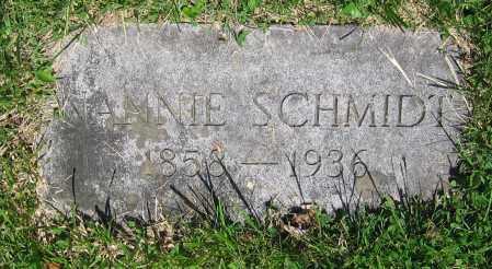 SCHMIDT, NANNIE - Clark County, Ohio | NANNIE SCHMIDT - Ohio Gravestone Photos