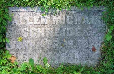 SCHNEIDER, ALLAN MICHAEL - Clark County, Ohio | ALLAN MICHAEL SCHNEIDER - Ohio Gravestone Photos
