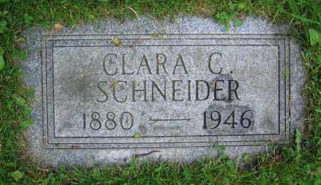 SCHNEIDER, CLARA C. - Clark County, Ohio   CLARA C. SCHNEIDER - Ohio Gravestone Photos