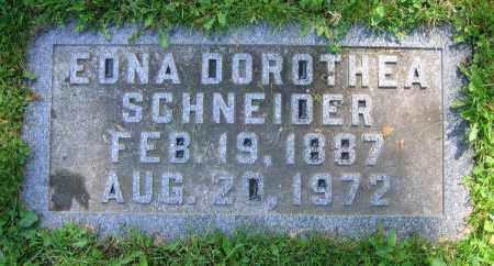 SCHNEIDER, EDNA DOROTHEA - Clark County, Ohio   EDNA DOROTHEA SCHNEIDER - Ohio Gravestone Photos