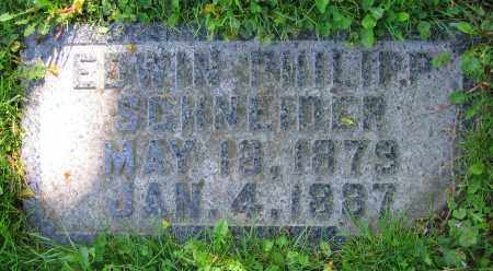 SCHNEIDER, EDWIN PHILIPP - Clark County, Ohio   EDWIN PHILIPP SCHNEIDER - Ohio Gravestone Photos