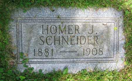 SCHNEIDER, HOMER J. - Clark County, Ohio | HOMER J. SCHNEIDER - Ohio Gravestone Photos