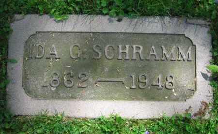 SCHRAMM, IDA G. - Clark County, Ohio   IDA G. SCHRAMM - Ohio Gravestone Photos