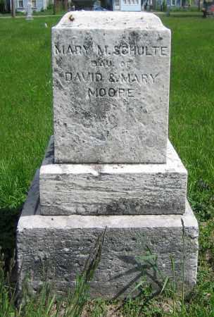 MOORE SCHULTE, MARY M. - Clark County, Ohio   MARY M. MOORE SCHULTE - Ohio Gravestone Photos