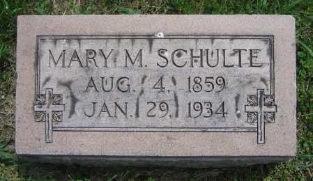 SCHULTE, MARY M. - Clark County, Ohio   MARY M. SCHULTE - Ohio Gravestone Photos