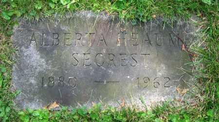 SECREST, ALBERTA - Clark County, Ohio | ALBERTA SECREST - Ohio Gravestone Photos