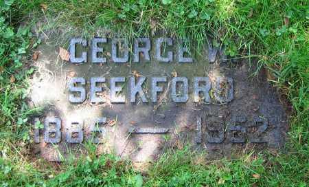 SEEKFORD, GEORGE W. - Clark County, Ohio   GEORGE W. SEEKFORD - Ohio Gravestone Photos