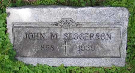 SEGGERSON, JOHN M. - Clark County, Ohio | JOHN M. SEGGERSON - Ohio Gravestone Photos
