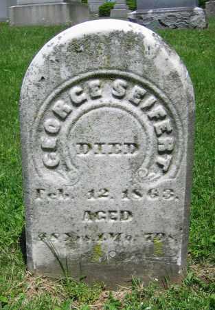 SEIFERT, GEORGE - Clark County, Ohio | GEORGE SEIFERT - Ohio Gravestone Photos