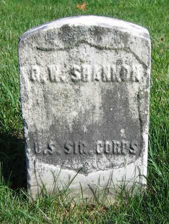 SHANNON, Q.W. - Clark County, Ohio | Q.W. SHANNON - Ohio Gravestone Photos