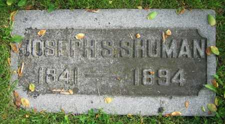 SHUMAN, JOSEPH S. - Clark County, Ohio   JOSEPH S. SHUMAN - Ohio Gravestone Photos