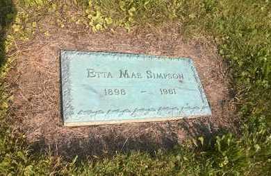 JACKSON SIMPSON, ETTA MAE - Clark County, Ohio   ETTA MAE JACKSON SIMPSON - Ohio Gravestone Photos