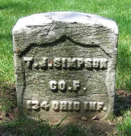 SIMPSON, T.J. - Clark County, Ohio | T.J. SIMPSON - Ohio Gravestone Photos
