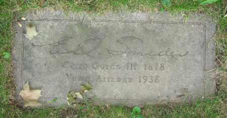 SNIDER, E.O. - Clark County, Ohio | E.O. SNIDER - Ohio Gravestone Photos