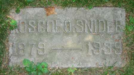 SNIDER, ROSCOE O. - Clark County, Ohio | ROSCOE O. SNIDER - Ohio Gravestone Photos