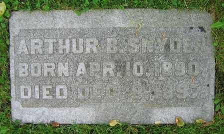 SNYDER, ARTHUR B. - Clark County, Ohio | ARTHUR B. SNYDER - Ohio Gravestone Photos