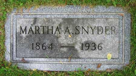 SNYDER, MARTHA A. - Clark County, Ohio   MARTHA A. SNYDER - Ohio Gravestone Photos