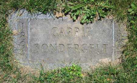 SONDERGELT, CARRIE - Clark County, Ohio | CARRIE SONDERGELT - Ohio Gravestone Photos
