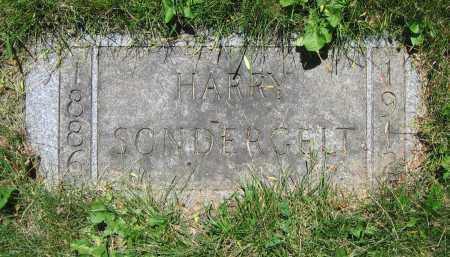 SONDERGELT, HARRY - Clark County, Ohio | HARRY SONDERGELT - Ohio Gravestone Photos