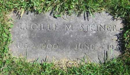 STEINER, LUCILLE M. - Clark County, Ohio | LUCILLE M. STEINER - Ohio Gravestone Photos