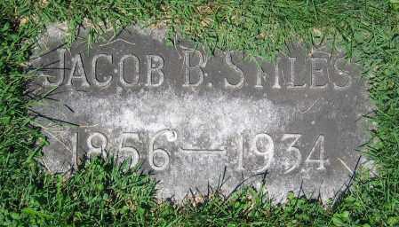 STILES, JACOB B. - Clark County, Ohio   JACOB B. STILES - Ohio Gravestone Photos
