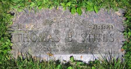 STITES, THOMAS B. - Clark County, Ohio   THOMAS B. STITES - Ohio Gravestone Photos