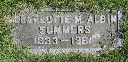 ALBIN SUMMERS, CHARLOTTE M. - Clark County, Ohio   CHARLOTTE M. ALBIN SUMMERS - Ohio Gravestone Photos