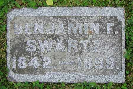 SWARTZ, BENJAMIN F. - Clark County, Ohio | BENJAMIN F. SWARTZ - Ohio Gravestone Photos