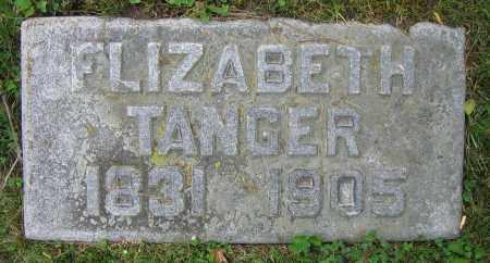 TANGER, ELIZABETH - Clark County, Ohio | ELIZABETH TANGER - Ohio Gravestone Photos