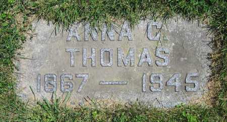 THOMAS, ANNA C. - Clark County, Ohio   ANNA C. THOMAS - Ohio Gravestone Photos
