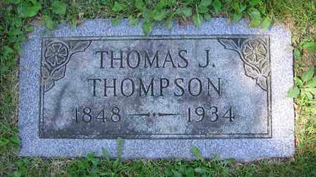 THOMPSON, THOMAS J. - Clark County, Ohio | THOMAS J. THOMPSON - Ohio Gravestone Photos