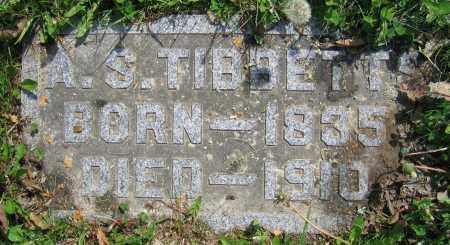 TIBBETTS, A.S. - Clark County, Ohio | A.S. TIBBETTS - Ohio Gravestone Photos