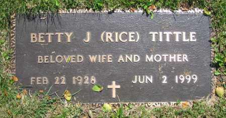 TITTLE, BETTY J. - Clark County, Ohio | BETTY J. TITTLE - Ohio Gravestone Photos