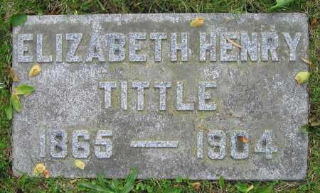 HENRY TITTLE, ELIZABETH - Clark County, Ohio | ELIZABETH HENRY TITTLE - Ohio Gravestone Photos