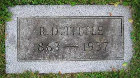 TITTLE, R.D. - Clark County, Ohio   R.D. TITTLE - Ohio Gravestone Photos