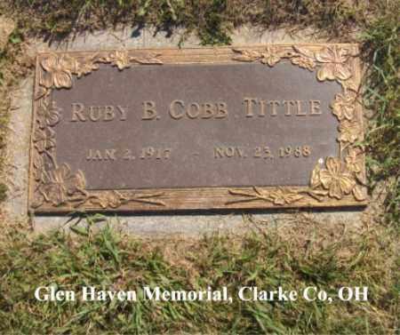 TITTLE, RUBY - Clark County, Ohio | RUBY TITTLE - Ohio Gravestone Photos