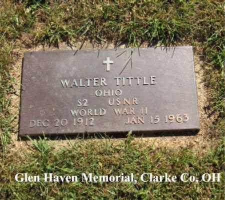TITTLE, WALTER - Clark County, Ohio | WALTER TITTLE - Ohio Gravestone Photos