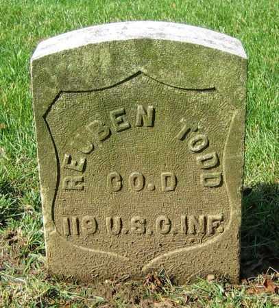 TODD, REUBEN - Clark County, Ohio | REUBEN TODD - Ohio Gravestone Photos