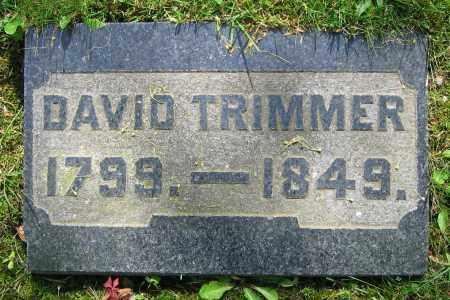 TRIMMER, DAVID - Clark County, Ohio | DAVID TRIMMER - Ohio Gravestone Photos