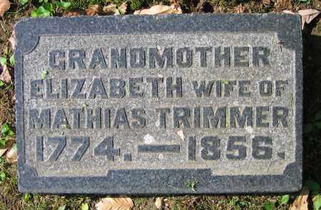 TRIMMER, ELIZABETH - Clark County, Ohio   ELIZABETH TRIMMER - Ohio Gravestone Photos