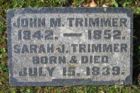 TRIMMER, SARAH J. TRIMMER - Clark County, Ohio | SARAH J. TRIMMER TRIMMER - Ohio Gravestone Photos