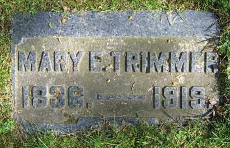TRIMMER, MARY E. - Clark County, Ohio | MARY E. TRIMMER - Ohio Gravestone Photos