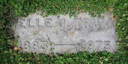 TRUMP, NELLE U. - Clark County, Ohio | NELLE U. TRUMP - Ohio Gravestone Photos
