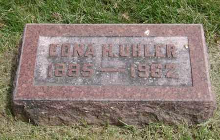 HARVEY UHLER, EDNA - Clark County, Ohio   EDNA HARVEY UHLER - Ohio Gravestone Photos