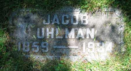 UHLMAN, JACOB - Clark County, Ohio   JACOB UHLMAN - Ohio Gravestone Photos