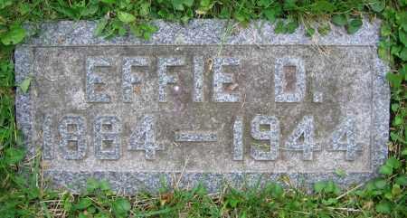 VALENTINE, EFFIE D. - Clark County, Ohio | EFFIE D. VALENTINE - Ohio Gravestone Photos